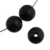 Wooden Bead Round 10mm Black